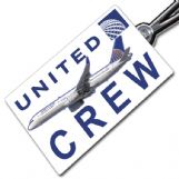 United Airlines Boeing 757-200 Crew Tag